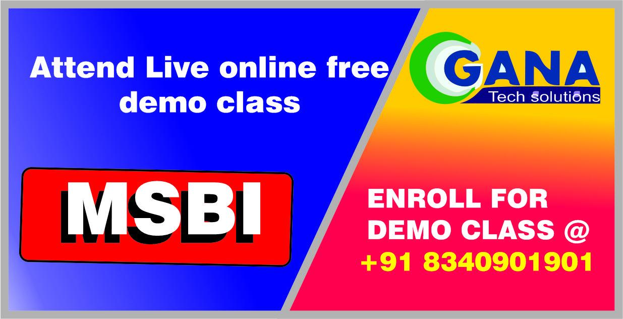 msbi online training in hyderabad